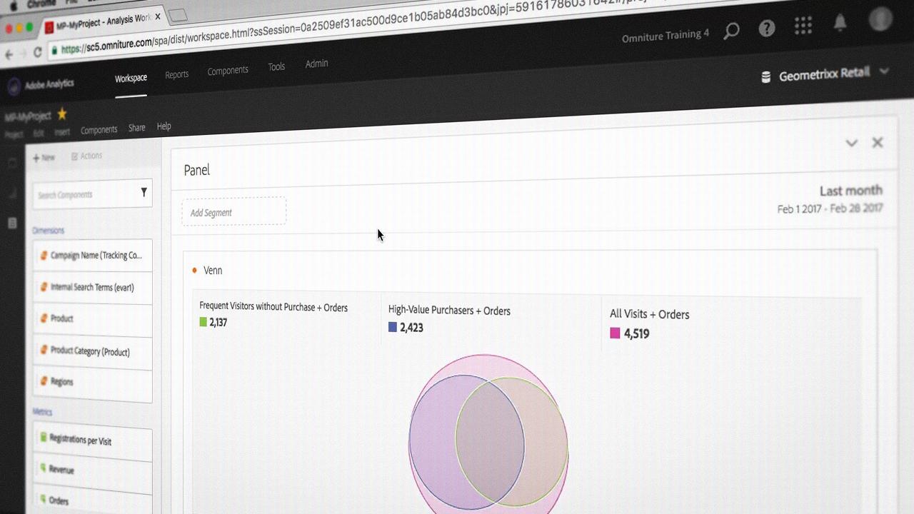 Adobe Analytics Analysis Workspace Pluralsight