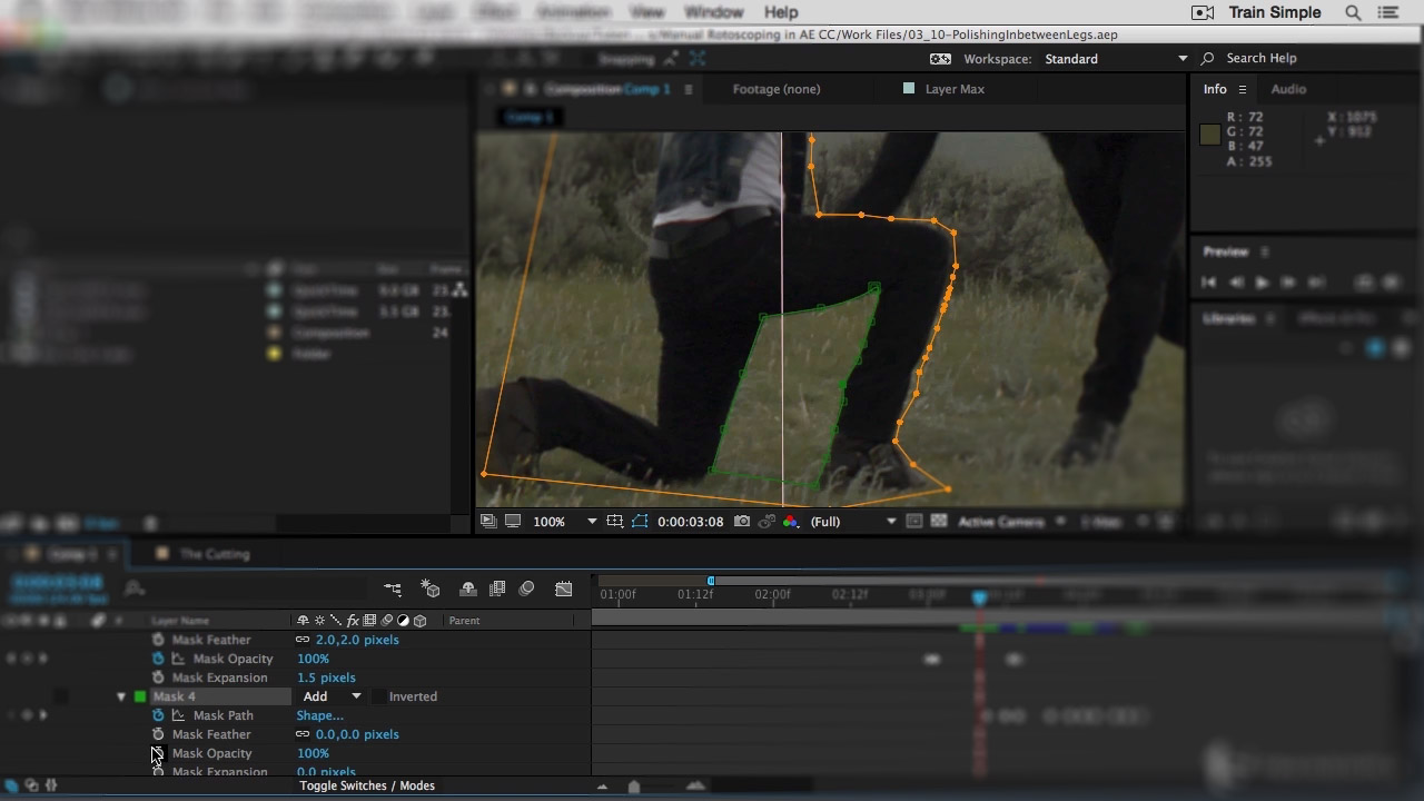 After Effects Cc Rotoscoping Pluralsight