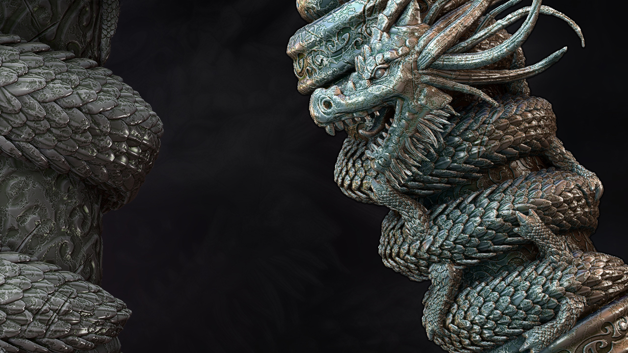 Sculpting A Dragon Scroll Asset In Zbrush Pluralsight