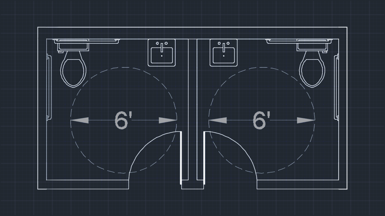 Drawing An Accessible Restroom Layout In Autocad Pluralsight