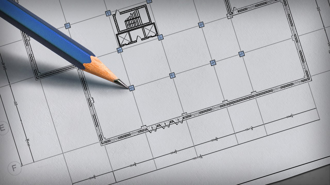 drawing a column grid in autocad pluralsight