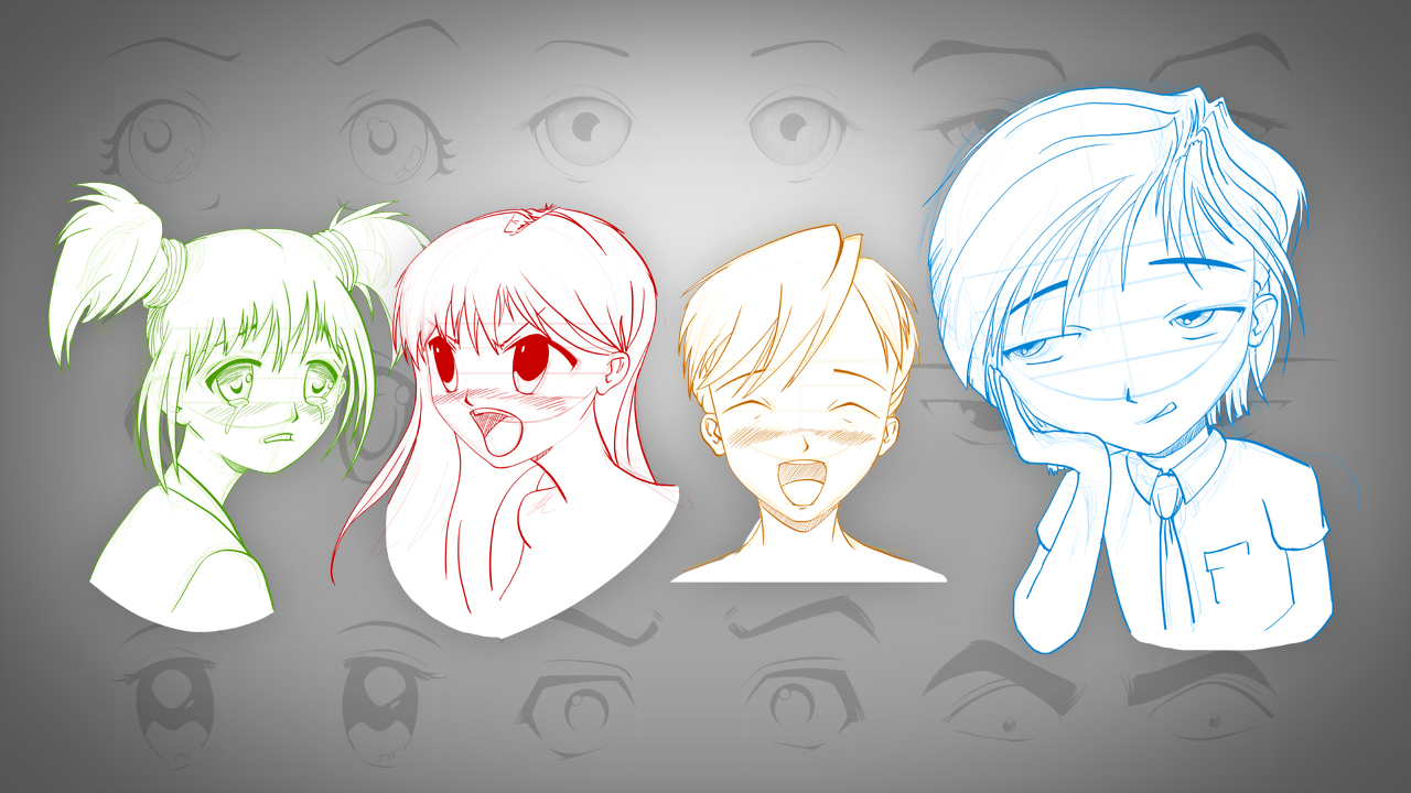 Drawing Manga Faces And Heads In Photoshop Pluralsight