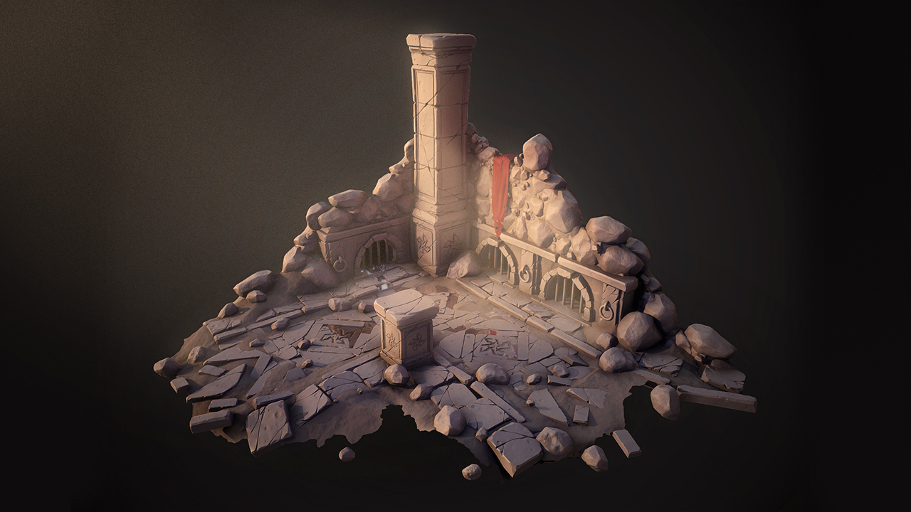 Sculpting a Stylized Game Environment in ZBrush and 3ds