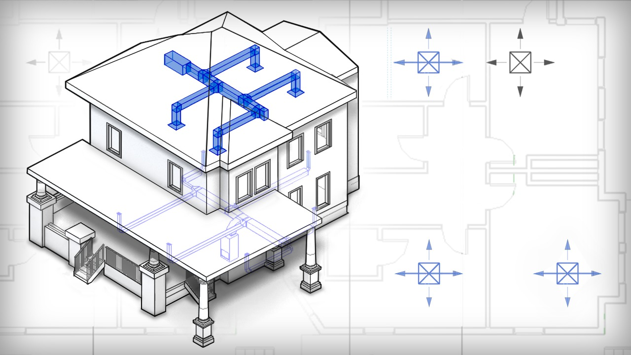 Introduction to hvac design in revit mep pluralsight for Blueprints and plans for hvac pdf