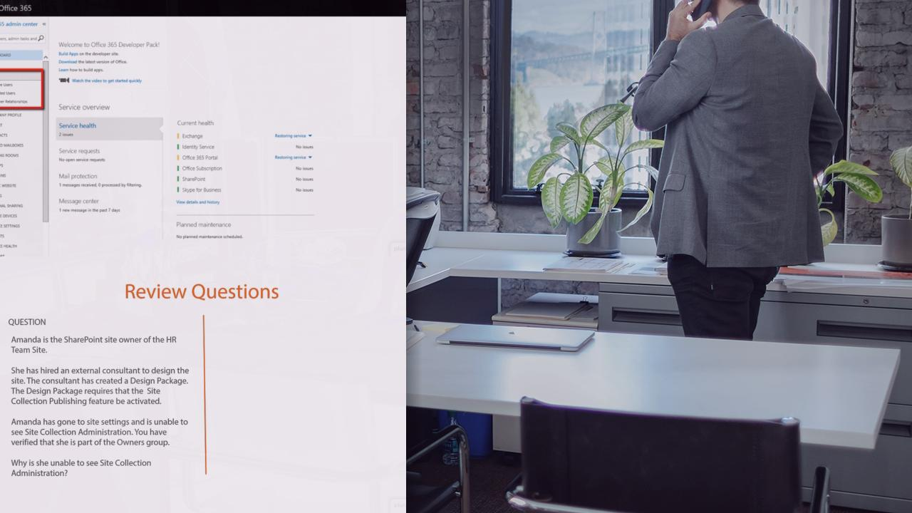 Sharepoint online site collections course pluralsight for Bureau plural