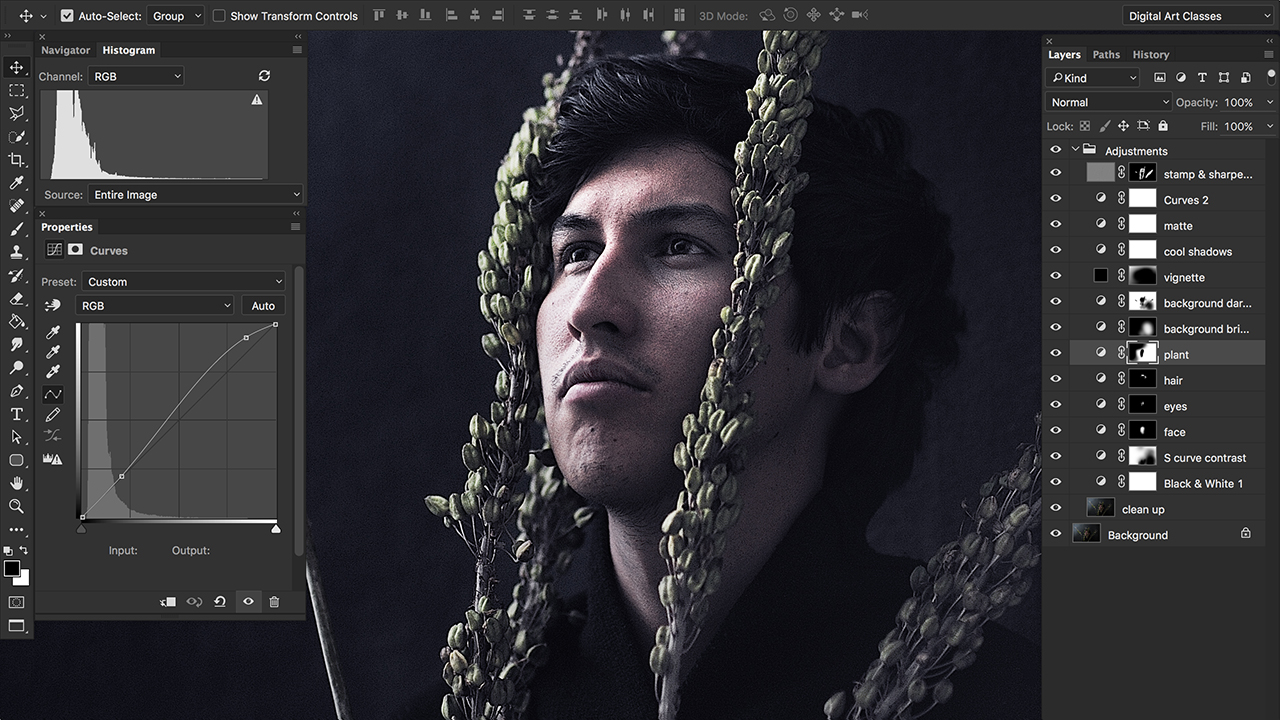 How to Create Dramatic Black & White Portrait in Photoshop ...