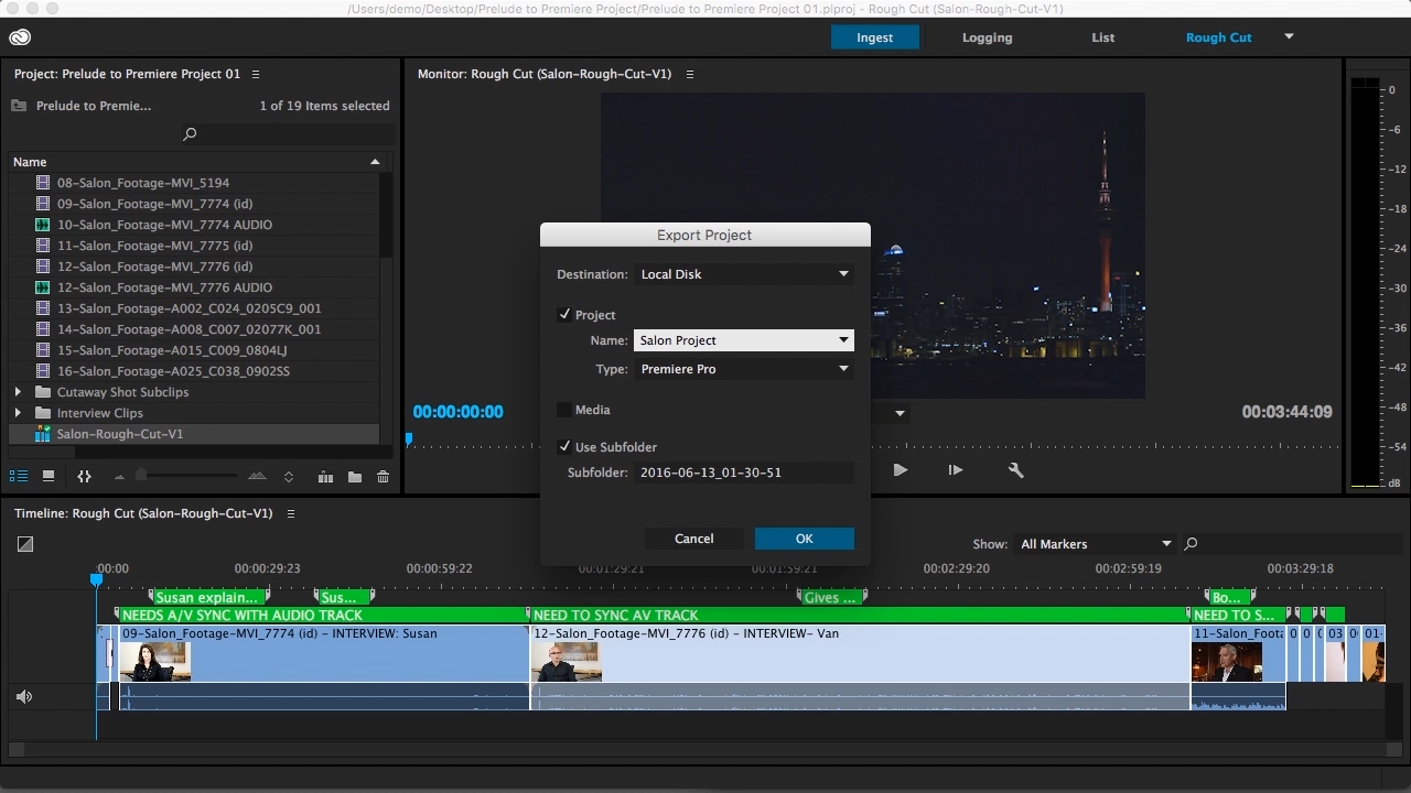 Fundamentals of Video Production in Adobe Prelude and Premiere Pro