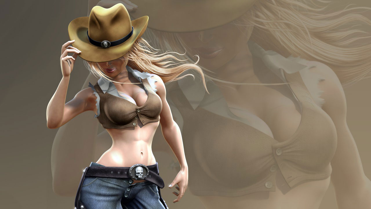 Character Concept Design Maya And Vray : Rendering a cowgirl character in maya and photoshop