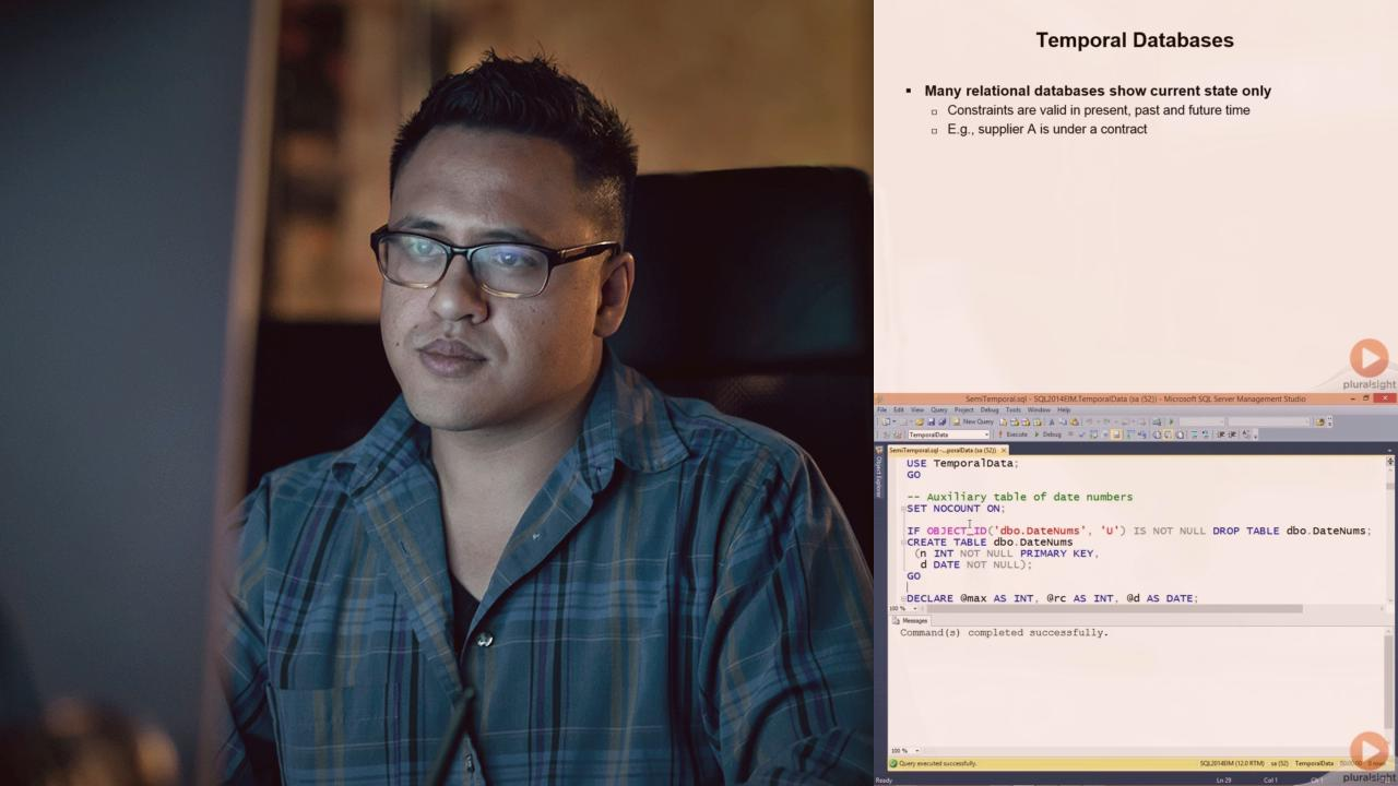 Working With Temporal Data in SQL Server